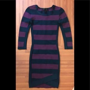 French Connection Striped Bodycon Worn Once